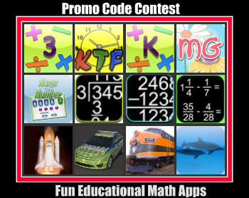 48 hour Fun Educational Math Apps Bonanza - Promo Code Contest
