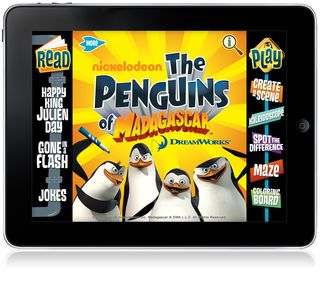 The Penguin of Madagascar - bok and game apps