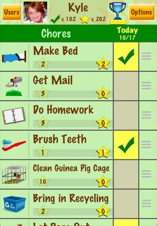 Chore Chart and star Chart apps - apps for moms
