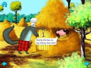 The Three Little Pigs by Nosy Crow for book apps iPad