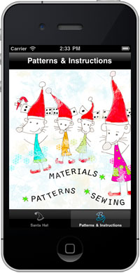 Santa Hat Sewing - Art and Craft app for children