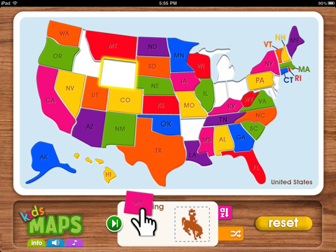 Kids Maps Top USA Geography Apps For Kids To Years Old Fun - Us geography map games