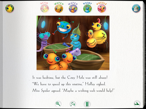 Miss Spider's Bedtime Story for the iPad 2