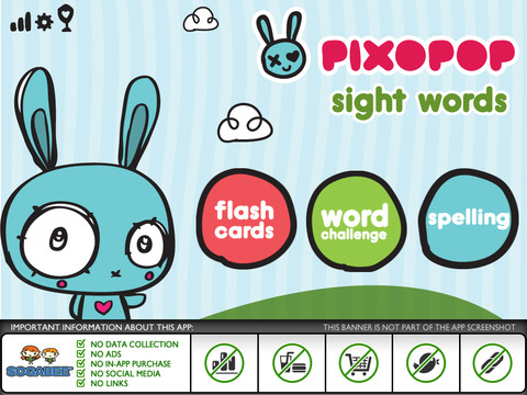 Sight Words and Spelling with Pixopop 1