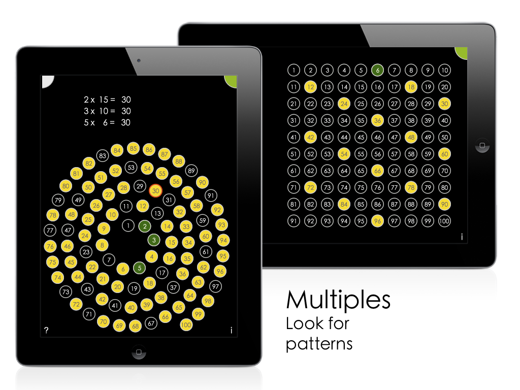 Visual multiplication tables innovative ipad math app using screen 4 gamestrikefo Images