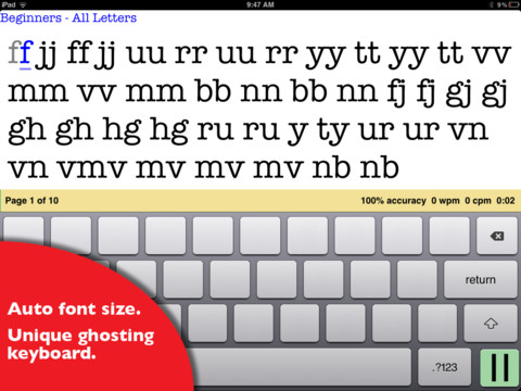 Ghost Type - a typing tutor to master your iPad typing skills 3