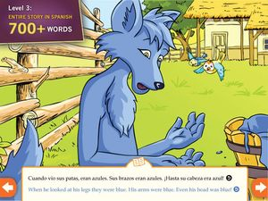 Learn Spanish- Little Blue Jackal  3