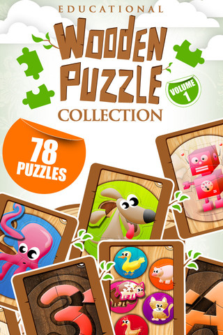 Educational Wooden Puzzle Collection 1