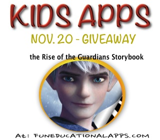 App Giveaway the Rise of the Guardians Storybook