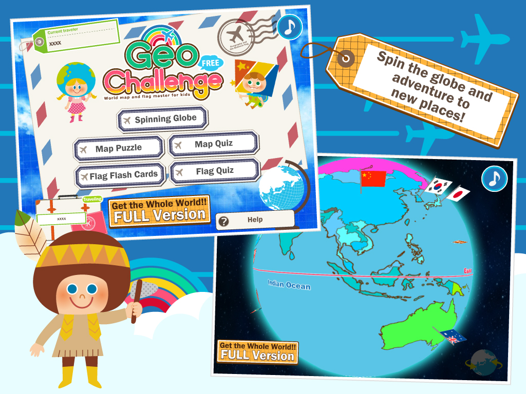 Geo challenge world map and flag master for kids in english and 1 gumiabroncs Images