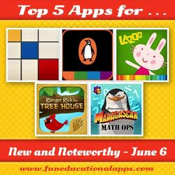 Best new  Kids apps june 6