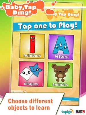 Baby Tap Ding! English Shapes Numbers Letters Animals 3