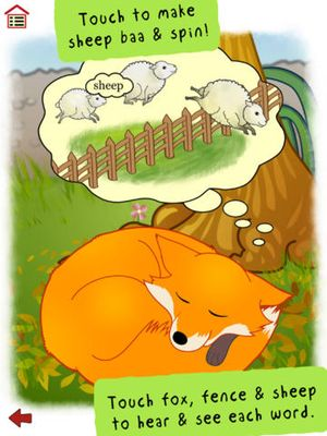 Ferdinand Fox's Big Sleep - interactive rhyming story book app for kids 4