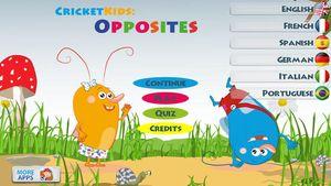 Cricket Kids- Opposites