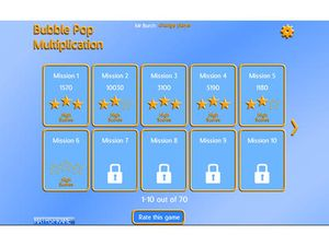 Bubble Pop Multiplication 4
