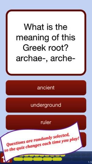 Attic Greek Root Words Quiz  2