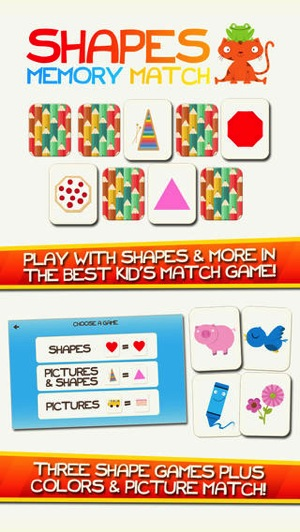 Shapes Memory Match 2