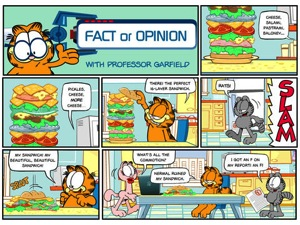 Professor Garfield Fact or Opinion