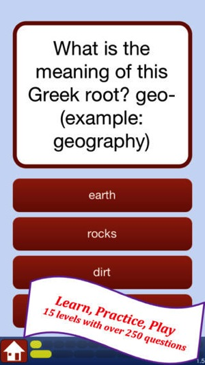 Attic Greek Root Words Quiz