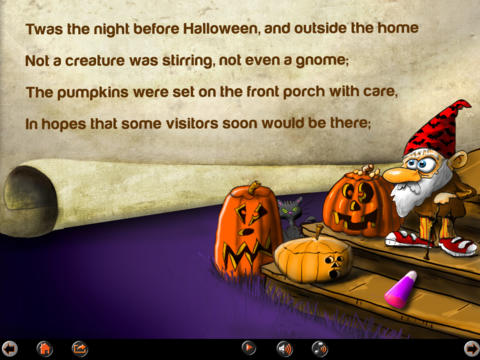 onceuponanapps twas the night before halloween book and story game app fun educational apps for kids