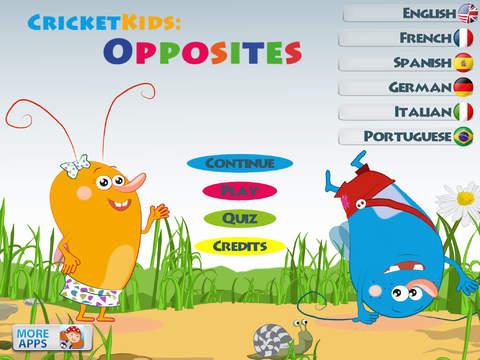 Cricket Kids: Opposites - A TOP PICK Learning App - Fun ...
