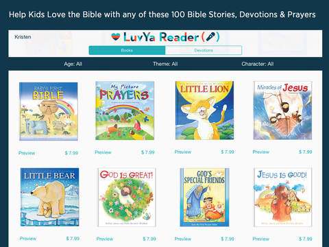 LuvYa Reader Recorder – Recordable Children's Bibles, Christian Devotions and Prayers for Kids You Love 2