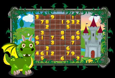 Dragon Sudoku Adventure Game for Kids